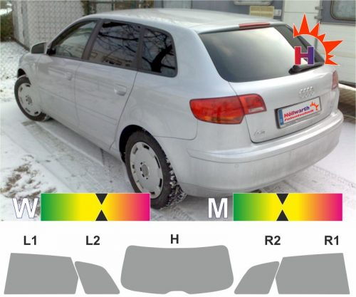 AUDI A3 8P Sportback 2005 bis 2012 Tönungsfolie passgenau