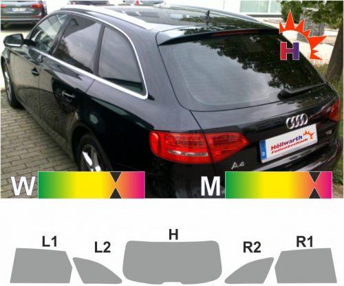 AUDI A4 B8 Avant 2008 bis 2015 passgenaue Tönungsfolie