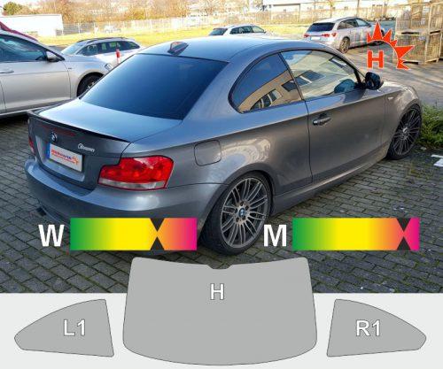 BMW 1er E82 Coupet 2007 bis 2011 tönungsfolie passgenau