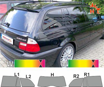 BMW 3er E46 Touring 1999 bis 2005 passgenaue Tönungsfolie