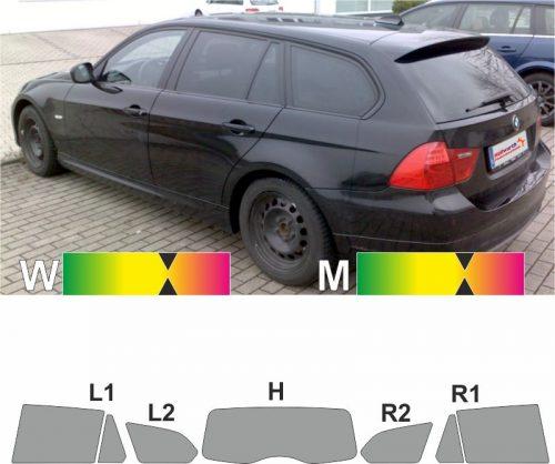BMW 3er E91 LCI Touring 2008 bis 2012 passgenaue tönungsfolie