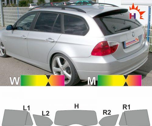 BMW 3er E91 Touring 2006 bis 2008 passgenaue Tönungsfolie