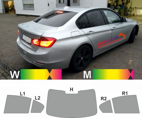BMW 3er F30 Limousine ab 2011 passgenaue tönungsfolie