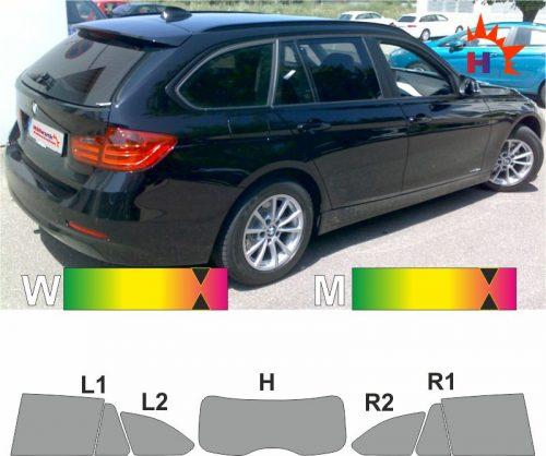 BMW 3er F31 Touring seit 2012 passgenaue Tönungsfolie