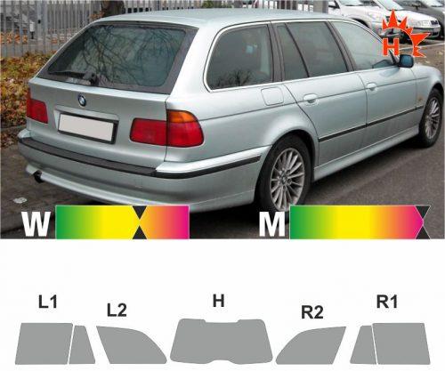 BMW 5er E39 Touring 1997 bis 2003 passgenaue Tönungsfolie