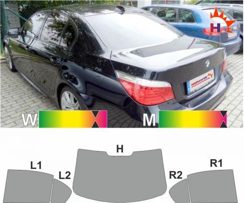 BMW 5er E60 2003 bis 2010 passgenaue tönungsfolie