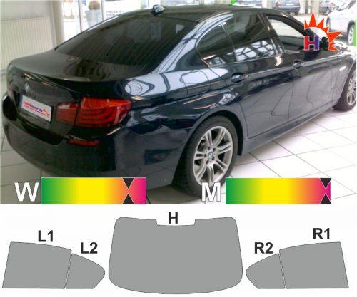 BMW 5er F10 Limousine 2010 bis 2017 tönungsfolie passgenau