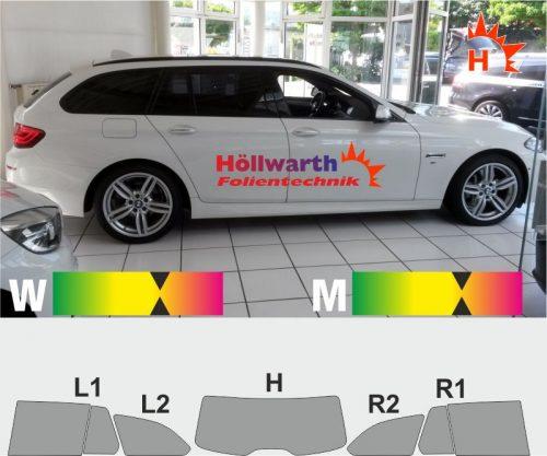BMW 5er F11 Touring 2010 bis 2017 toenungsfolie passgenau
