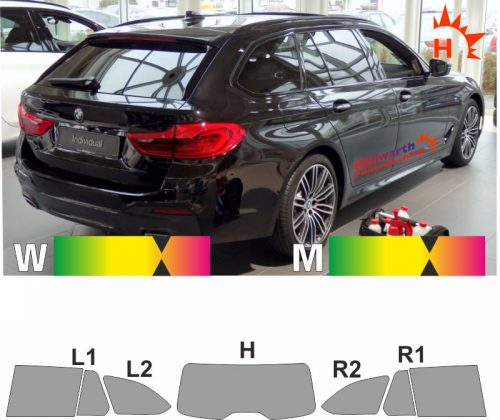 BMW 5er G31 Touring ab 2017 passgenaue tönungsfolie