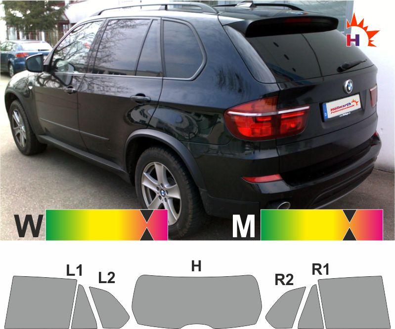 E53 Tönungsfolie passgenau  BMW X5 ´00-´06