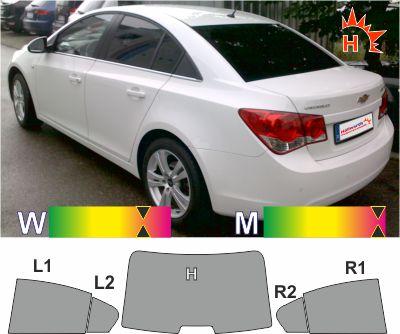CHEVROLET Cruze Limousine 2009 bis 2015 tönungsfolie passgenau