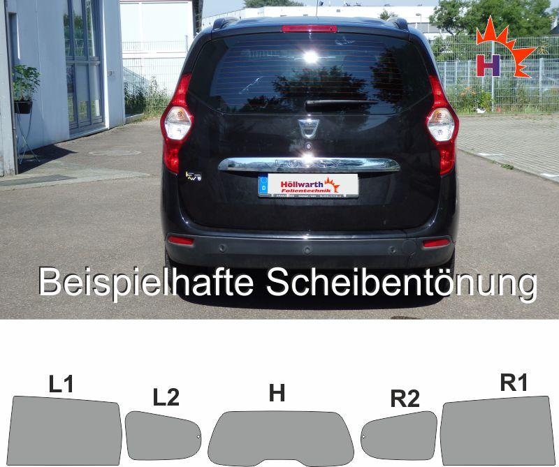 Tönungsfolie passgenau Dacia Lodgy ab 2012