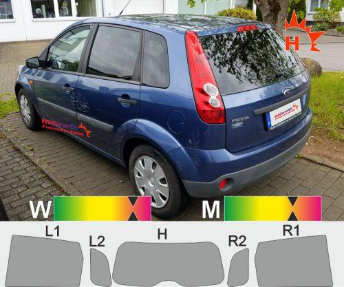 FORD Fiesta MK6 fünftürig 2001 bis 2008 passgenaue Tönungsfolie