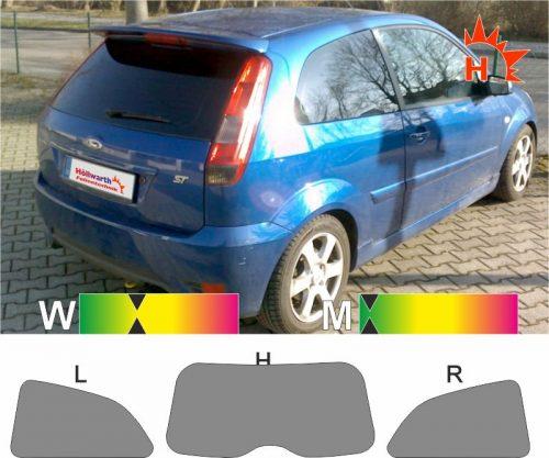 FORD Fiesta MK6 dreitürig 2001 bis 2008 passgenaue Tönungsfolie