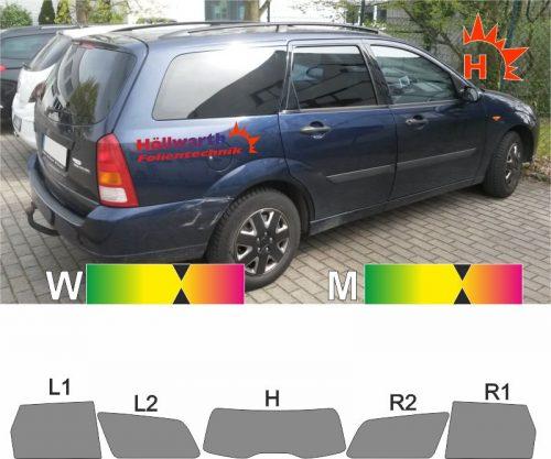 FORD Focus 98 Tournier 1999 bis 2004 passgenaue Tönungsfolie