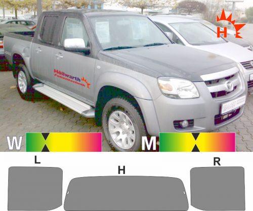 MAZDA BT50 2006 bis 2012 passgenaue Tönungsfolie