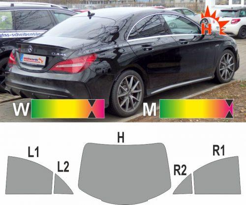 MERCEDES CLA Limousine ab 2013 passgenaue Tönungsfolie