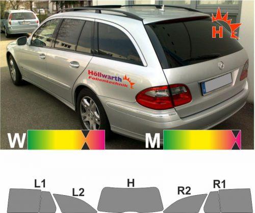 MERCEDES E-Klasse W211 2003 bis 2009 passgenaue Tönungsfolie