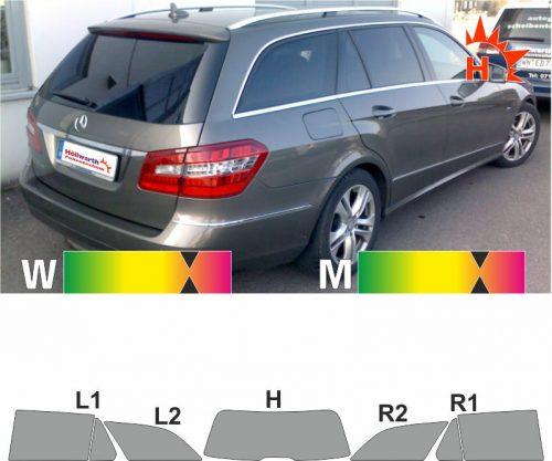 MERCEDES E-Klasse W212 2010 bis 2016 passende Tönungsfolie