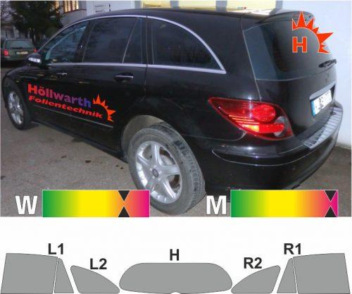 MERCEDES R-Klasse 251 Kurzversion 2005 bis 2012 passende Tönungsfolie