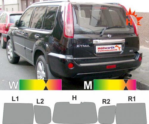 NISSAN X-Trail T30 SUV 2001 bis 2007 passende Tönungsfolie