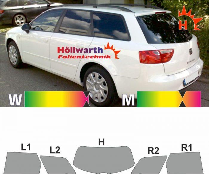 SEAT Exeo ST 2009 bis 2013 passende Tönungsfolie