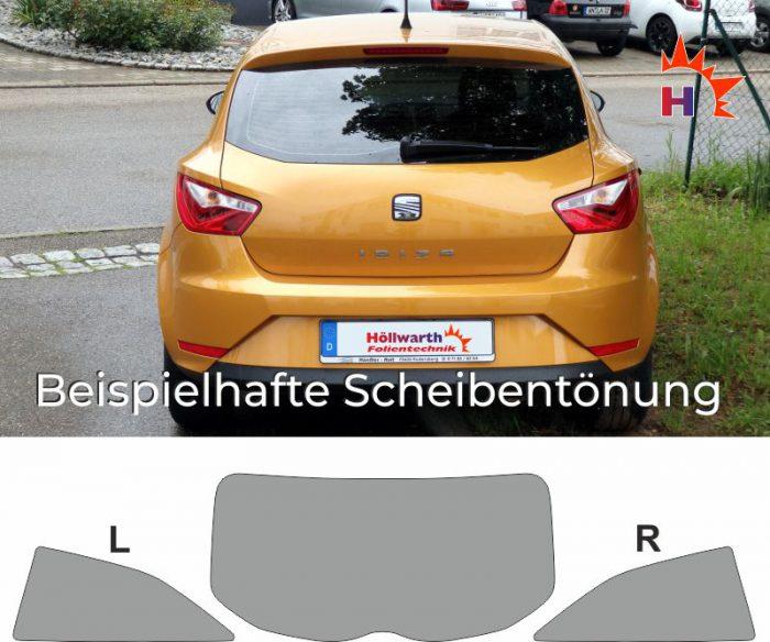 SEAT Ibiza 6J dreitürig passgenaue Tönungsfolie