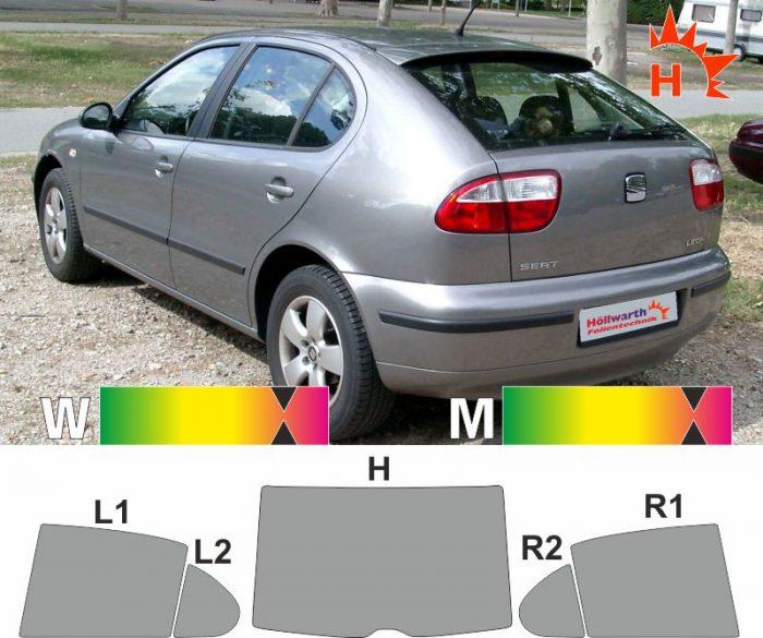 SEAT Leon 1M 1999 bis 2006 passende Tönungsfolie