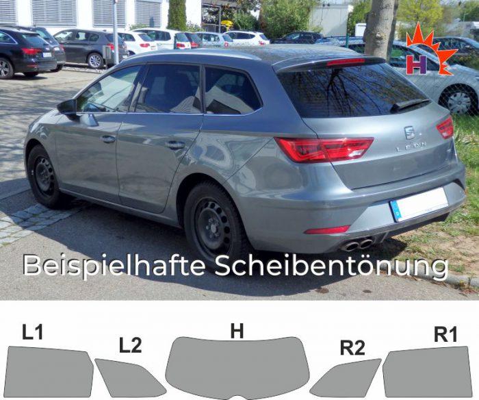 SEAT Leon 5F ST passgenaue Tönungsfolie