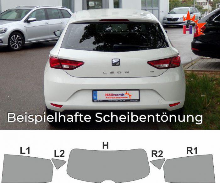 SEAT Leon 5F passgenaue Tönungsfolie