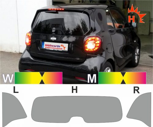 SMART Fortwo 453 ab 2014 passende Tönungsfolie