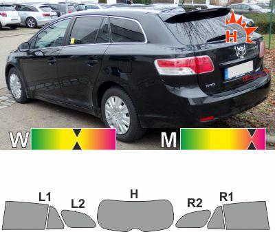 TOYOTA Avensis T27 Kombi 2009 bis 2015 passende Tönungsfolie
