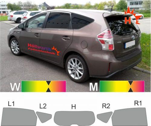 TOYOTA Prius+ ab 2011 passende Tönungsfolie
