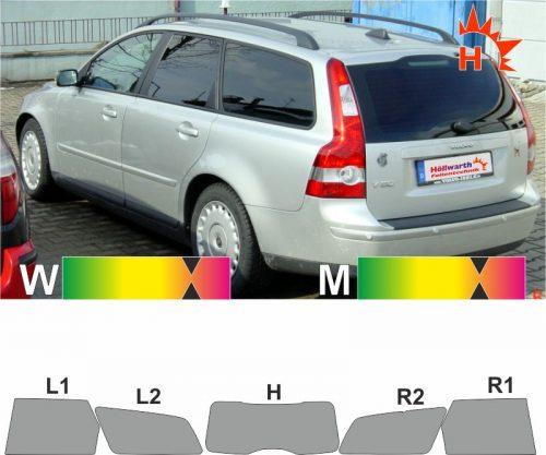 VOLVO V50 Kombi 2004 bis 2012 passende Tönungsfolie