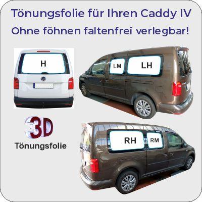 VW Caddy IV passgenaue Tönungsfolie