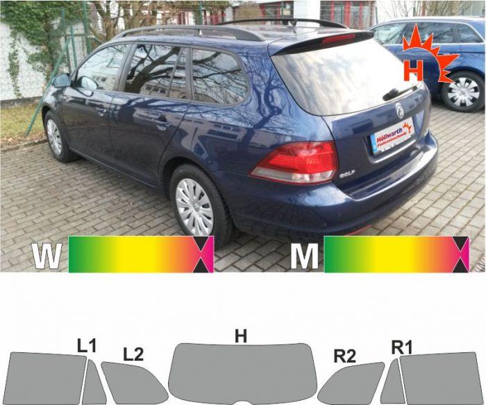 VW Golf V und VI Variant 2007 bis 2013 passende Tönungsfolie