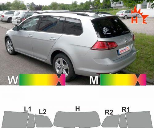 VW Golf VII Variant seit 2013 passgenaue Tönungsfolie