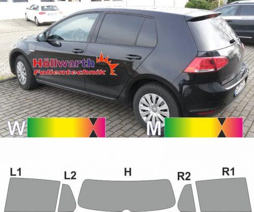 VW Golf VII fünftürig ab 2012 passende Tönungsfolie