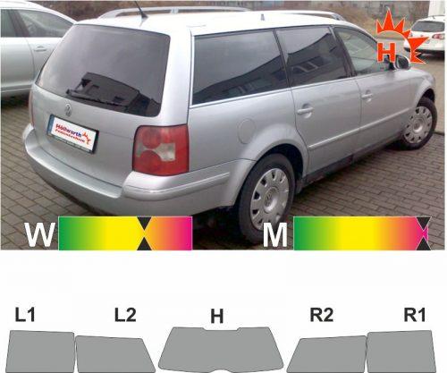 VW Passat Variant B5 1997 bis 2005 passgenaue Tönungsfolie