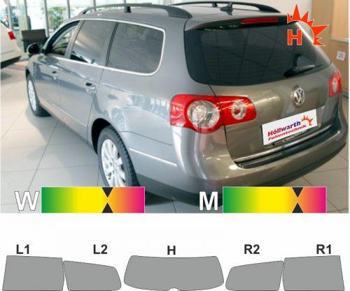 VW Passat Variant B6 2005 bis 2010 passendeTönungsfolie
