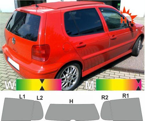 VW Polo III 6N fünftürig 1994 bis 2001 passende Tönungsfolie