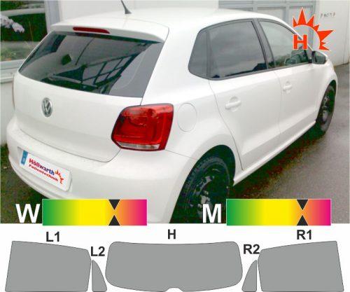 VW Polo V 2009 bis 2016 passgenaue Tönungsfolie