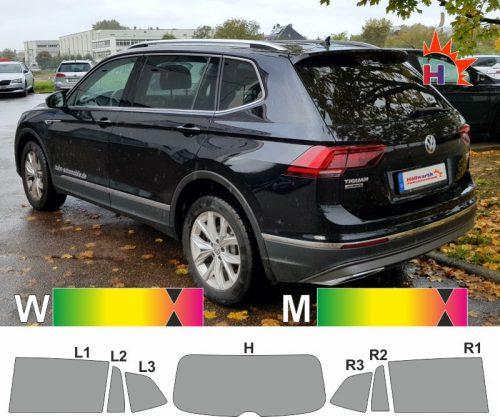 VW Tiguan Allspace ab 2017 passgenaue Tönungsfolie