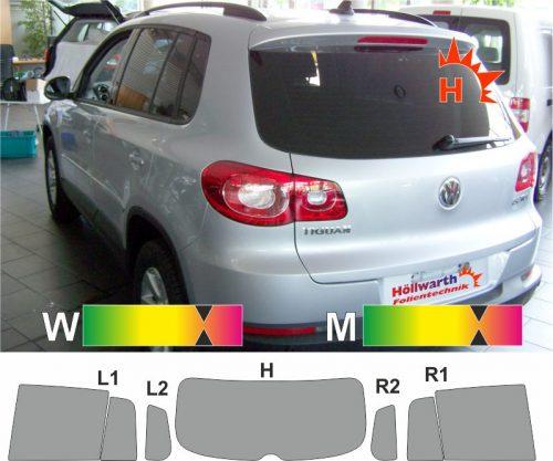 VW Tiguan I 2007 bis 2016 passende Tönungsfolie