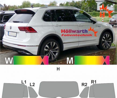 VW Tiguan II ab 2016 passende Tönungsfolie
