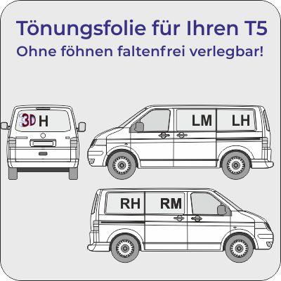 Tönungsfolie VW T5 faltenfrei verlegen