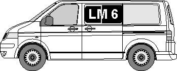 Tönungsfolie passgenau VW T5 Bus nur Flügeltüren