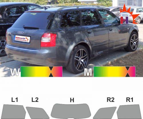 AUDI A4 B6 Avant 2002 bis 2004 Tönungsfolie passgenau