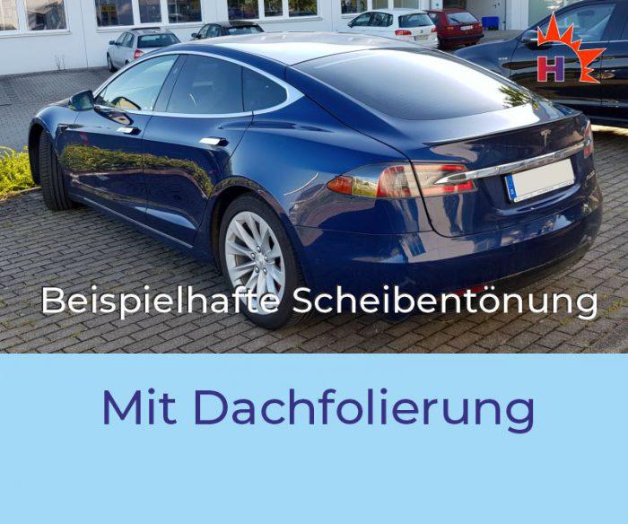 TESLA Model S Scheibentönung mit Dachfolierung
