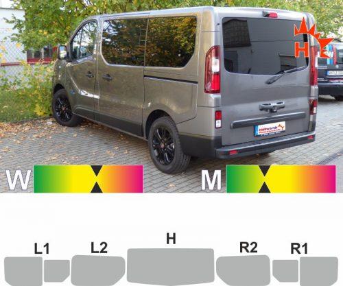 FIAT Talento ab 2016 L1H1 Heckklappe Schiebetüren Schiebefenster passende Tönungsfolie